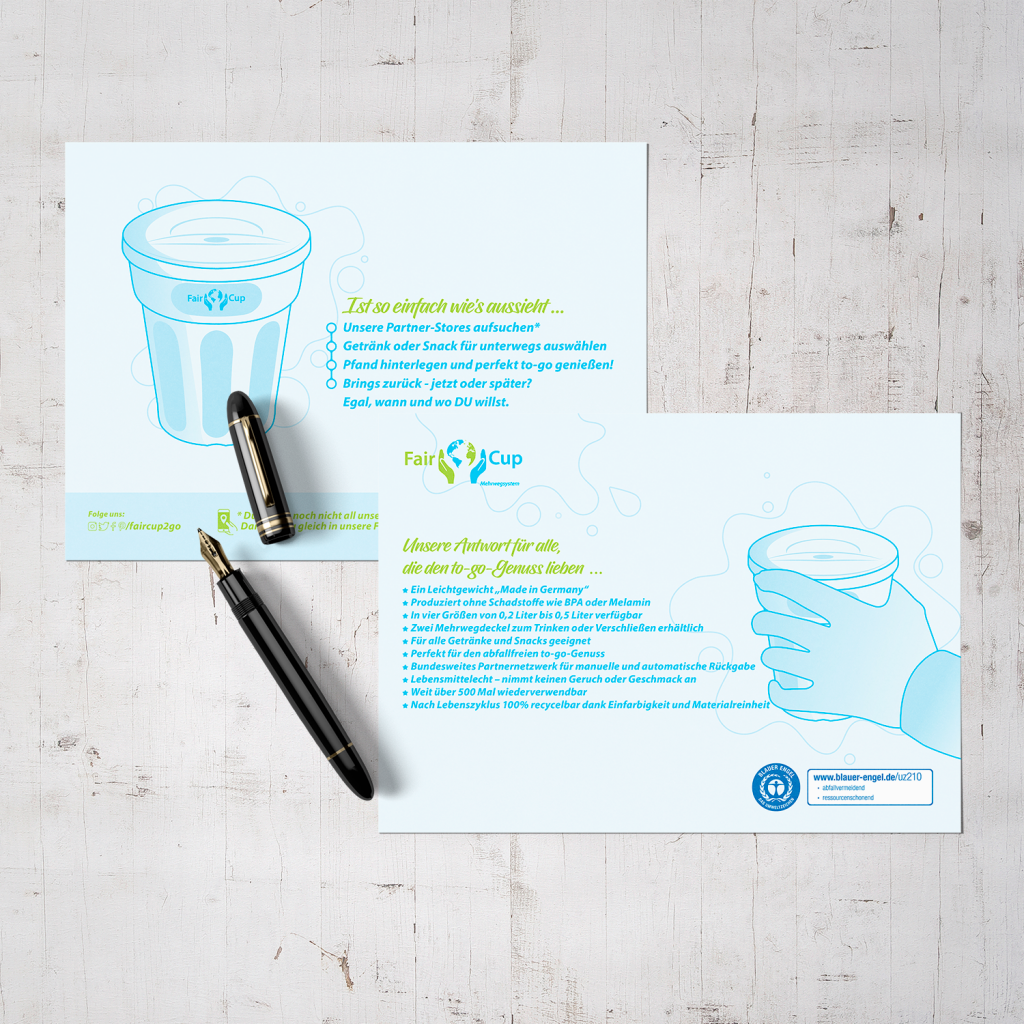 FairCup Flyer/Postkarte Design